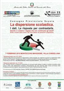 news - Convegno Prov. DISPERSIONE SCOLASTICA -7 febbraio- Montecchio Magg. Villa Cordellina
