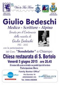 news - 150605 Serata Giulio Bedeschi 1915-2015